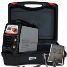 Aparat de sudura cu electrozi tip invertor Hobby MMA 160 cu valiza Alfaweld Ungaria