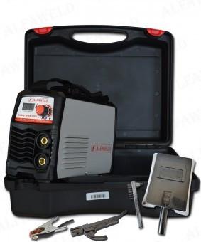 Aparat de sudura cu electrozi tip invertor Hobby MMA 160 cu valiza Alfaweld Ungaria foto