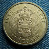 1j - 20 Kroner 2010 Danemarca / moneda aniversara, Europa