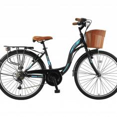 """Bicicleta City Umit Alanya , Culoare Negru/Verde , Roata 28"""" OtelPB Cod:28100000003"""