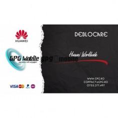 Deblocare Huawei Worldwide ultima baza de date 1-5 zile
