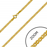 Lanț din aur galben 14K - zale eliptice și ovale, finisaj lucios, 600 mm