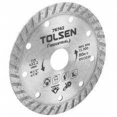 Lama de taiere diamantata Tolsen, 230 x 22.2 mm, max rpm 6650 intrerupt, uz industrial