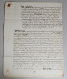 Vechi document englezesc 1761
