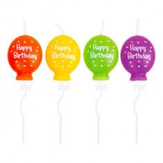 Lumanari aniversare pentru tort figurine baloane, Radar 51844, set 4 bucati