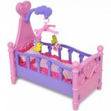 Pat de jucărie păpuși pentru camera de joacă a copiilor, roz + violet, vidaXL