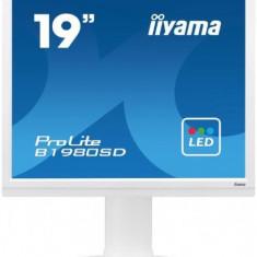 Monitor TN LED iiyama 19inch ProLite B1980SD-W1, DVI-D, VGA, 5ms, Boxe (Alb)