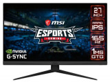 Monitor Gaming IPS LED MSI Optix 27inch G273QF, WQHD (2560 x 1440), HDMI, DisplayPort, 165 Hz, 1 ms (Negru)