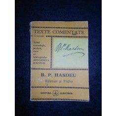B. P. HASDEU - RAZVAN SI VIDRA (Colectia TEXTE COMENTATE)