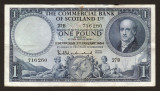 Scotia 1 Pound The Commercial Bank of Scotland s716260 1954