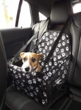 Protectie scaun auto,tip cosulet,transportare caini si animale de companie-NEGRU