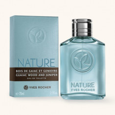 Apa de toaleta NATURE HOMME GAIAC-IENUPAR Yves Rocher, 75 ml, original