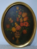 Cumpara ieftin Pictura veche nesemnata Vas cu Flori. 1, Natura statica, Ulei, Realism