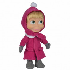 Masha si ursul - Papusa Masha cu palton mov 23 cm