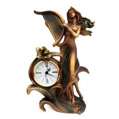 Statueta fata cu harpa si ceas, 584E