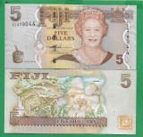 = FIJI - 5 DOLLARS - 2007 -  UNC   =