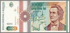 ROMANIA 1000 LEI 1991 - (A-UNC/UNC) foto