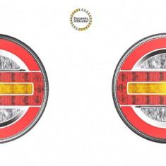 Set Lampi stop camion LED cu semnalizare dinamica SL-5020 12-24V