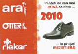 Romania, Pantofi de cea mai buna calitate, calendar de buzunar, 2010