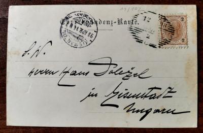 1898 Cernauti Gruss aus Czernowitz clasica circulata timbru intact - Leon Konig foto