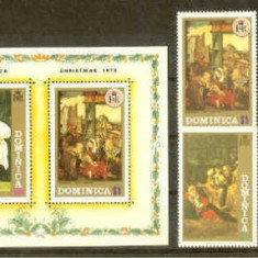 Dominica 1972 Painting, Religion, set + imperf. sheet, MNH N.045