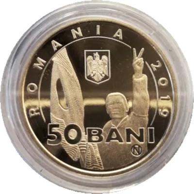 Romania 50 bani 2019 PROOF in capsula BNR - 30 ani Revolutia din Decembrie 1989 foto