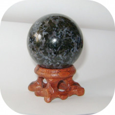 Sfera Gabbro 45 mm_colectie roci_minerale * cod 6 *