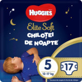 Scutece Chilotel de nopate Elite Soft Overnight Pants, nr 5, 12-17 kg, 17 buc, Huggies