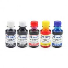 Cerneala pentru cartuse reincarcabile Canon in 5 culori, 2 flacoane negru