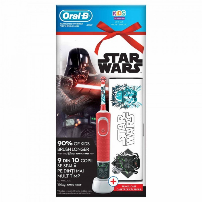 Periuta electrica Oral-B Vitality, model Star Wars, caseta calatorie inclusa