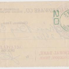 CHECK DICKSON HARDWARE CO. CITIZENS NATIONAL BANK 1917 XF WTMK