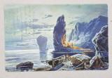 A.D. XENOPOL CATRE ELIZA XENOPOL * , CARTE POSTALA ILUSTRATA , PEISAJ MARITIM NOCTURN , CIRCULATA , CLASICA , 1902