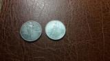 1 Leu 1910 + 1 Leu 1912 Monede argint Romania Carol I