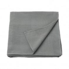 Patura single din bumbac tesut, 150 x 230 cm, gri