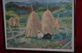TABLOU ANGHEL VASILE SIMINIUC - Ulei pe panza - 70 x 70 - Vara la Saru Dornei !, Peisaje, Altul
