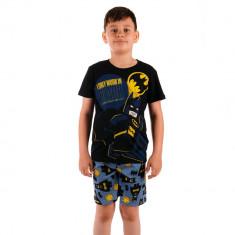 Pijama baieti Lego Batman I Only Work in Black neagra