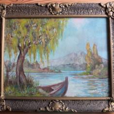 Peisaj de pe valea Mureşului – ulei pe pânză