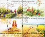 MOLDOVA 2019, Lunile anului in traditia populara, Flora Fauna, serie neuzata