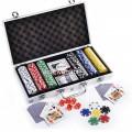 Set Poker 300 Chipuri Nemarcate Valoric Cutie aluminiu tip Servieta