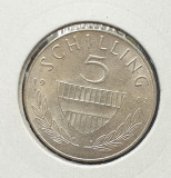 Moneda din argint Austria 5 Schilling 1962