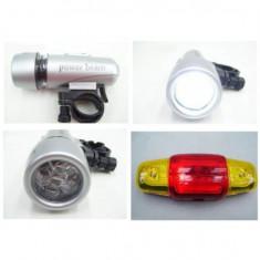 Lanterna si stop cu semnalizatoare cu suport de prindere pentru bicicleta