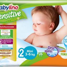 Scutece Babylino sensit. nr.2(3-6KG) 26buc. Babylino