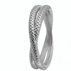 Inel Twin Snake, Argint 925, Masura 59