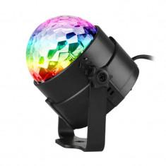 Glob cu lumini Party Light, RGB, LED, telecomanda