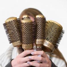 Set  5 perii Perie Par ceramica-Ionica Profesionala Coafor Lila Rossa