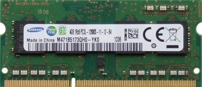 Memorii Laptop Samsung 4GB DDR3 PC3L-12800S 1600Mhz 1.35V M471B5173QH0