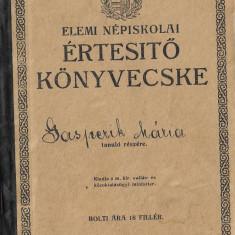 Carnet note elev 1920 Oradea