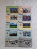 = LOT 465 - TAIWAN - 10 CARTELE TELEFONICE DIFERITE =