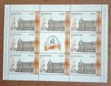 TIMBRE ROMANIA MNH LP1974b/2013 100 ANI A.S.E. BUCURESTI MINICOALA 8 TIMBRE, Nestampilat