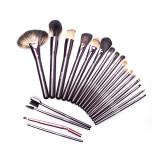 Set pensule make-up Megaga, 14 x 25 cm, peri naturali, maner lemn, 21 bucati, General